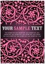 Teste padrão floral cor-de-rosa Foto de Stock Royalty Free