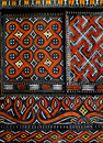 Teste padrão nativo africano no indicador Foto de Stock Royalty Free