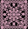 Teste padrão quadrado cor-de-rosa fino no preto Fotografia de Stock Royalty Free
