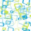 Teste padrão sem emenda abstrato de quadrados coloridos borrados Imagens de Stock