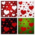 Teste padrão set-1 do amor dos corações Imagem de Stock Royalty Free