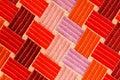 Teste padrão de matéria têxtil Fotografia de Stock Royalty Free