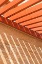Teste padrão do feixe de telhado Fotos de Stock