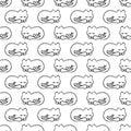 Teste padrão sem emenda com gato ideal Foto de Stock Royalty Free