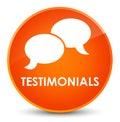 Testimonials (chat icon) elegant orange round button