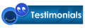 Testimonials circles square a banner image for with smile and text Royalty Free Stock Photo