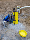 Testing hydrology borehole Royalty Free Stock Photos