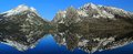 Teton Range Reflected in Jenny Lake, Grand Teton National Park Royalty Free Stock Photo