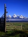 Tetons&Gate#2 Royalty Free Stock Image