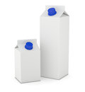 Tetrapak packages blanks for customization d render Royalty Free Stock Image