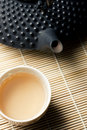 Tetsubin and Tea Cups Stock Images