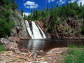 Tettegouche waterfall horizontal orientation Royalty Free Stock Photo