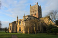 Tewkesbury Abbey, England, Early morning scene. Royalty Free Stock Photo