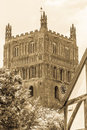 Tewkesbury Abbey Tower B Royalty Free Stock Photo