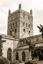 Tewkesbury Abbey Tower Royalty Free Stock Photo