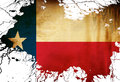Texan flag with some grunge effects and lines Stock Photo