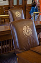 Texas capitol chairs Royaltyfria Foton
