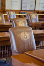 Texas capitol chairs in the senate chambers austin Royalty Free Stock Image