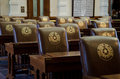 Texas capitol chairs in the senate chambers austin Royalty Free Stock Photography