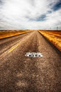 Texas Highway Route 66 Royalty Free Stock Photo
