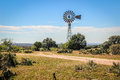 Texas Hill Country Windmill Royalty Free Stock Photo
