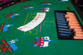 Texas hold em french cards for ion casino table Royalty Free Stock Images