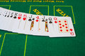 Texas hold em french cards for ion casino table Stock Photos