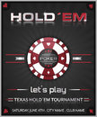 Texas holdem poker tournament poster. Royalty Free Stock Photo