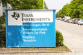 Texas instruments in fürstenfeldbruck sign infront of an office germany Royalty Free Stock Image