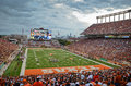Texas longhorns college football game in austin tx vs osu from oklahoma november th Royalty Free Stock Photo