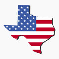 Texas map flag Royalty Free Stock Image