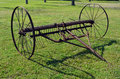 Texas ranch farm implement antique at the hi view in midlothian Stock Image