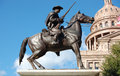 Texas ranger statue in front of capital building in austin Royalty Free Stock Photo