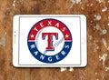 Texas Rangers baseball team logo Royalty Free Stock Photo