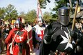 Renaissance Faire Medieval knights Royalty Free Stock Photo