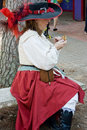 Texas renaissance festival a woman dressed in costume at the on october Royalty Free Stock Images