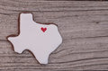 Texas shaped sugar cookie Royalty Free Stock Photo