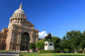 The Texas State Capitol Building  against blue sky Royalty Free Stock Photo