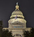 The texas state capitol building in downtown austin was built in of distinctive sunset red granite Stock Image
