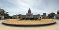The texas state capitol building in downtown austin was built in of distinctive sunset red granite Stock Photography