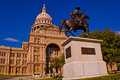 Texas State Capitol Building Horse back Statue Government Royalty Free Stock Photo