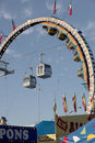 Texas state fair in dallas amusement rides at the Royalty Free Stock Image