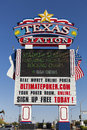 Texas station casino sign in las vegas nv on may hotel is one of s and is located next Royalty Free Stock Images