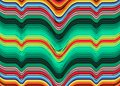 Mexican Blanket Stripes multi color Vector striped Pattern. Typical colorful woven fabric from central america Royalty Free Stock Photo