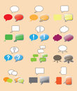 Text bubbles set comix style Royalty Free Stock Photography