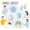 Text concept, Travel safely during COVID Royalty Free Stock Photo