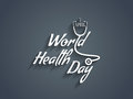 Text design element of world health day creative white color vector illustration Royalty Free Stock Image