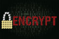 Text encrypt. security concept Royalty Free Stock Photo