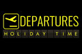 Text flip of board of airport billboard with words name holiday time, travel, holiday and relax Royalty Free Stock Photo