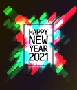 Text 2021 Happy New Year